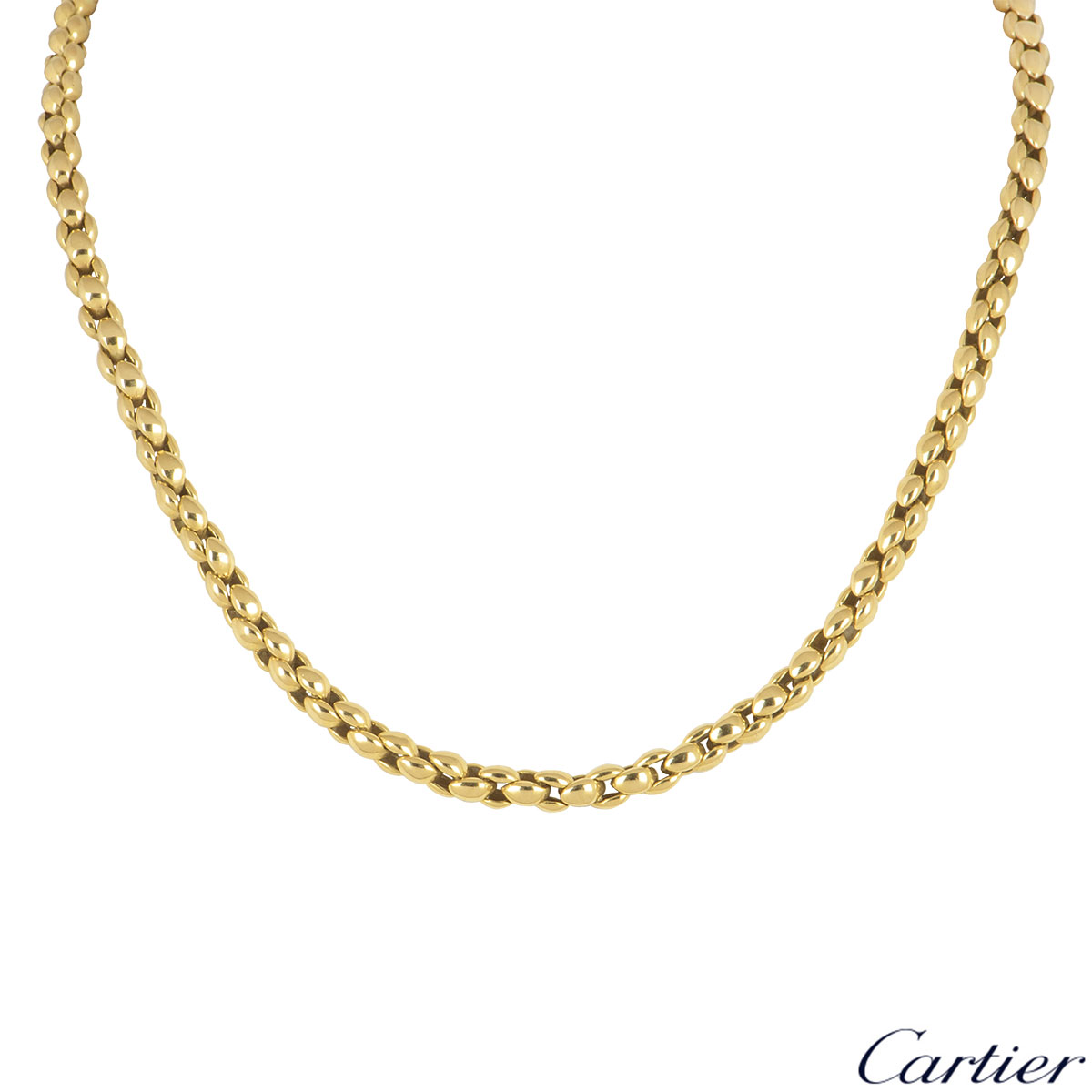 Cartier Yellow Gold Necklace and Bracelet Suite